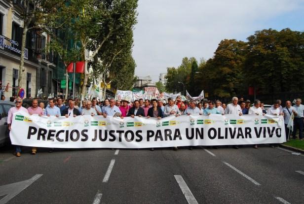 Manifestación de agricultores en Madrid