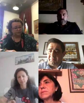 Reyes con alcaldes de Lopera y Arjonilla