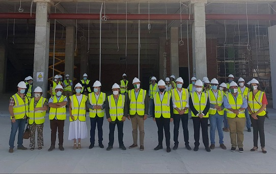 Las obras del Olivo Arena superan ya el 50% de ejecución y se prevé que estén concluidas para finales de año.