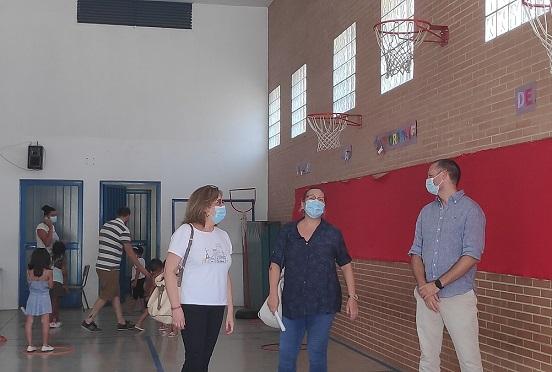 Comienza en Andújar la Escuela de Verano de Garantía Alimentaria con todas las medidas de limpieza y prevención para evitar contagios.