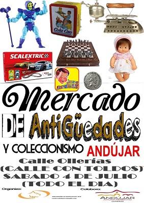 El Mercadillo de Antigüedades vuelve a Andújar durante los meses estivales para dinamizar la actividad comercial.