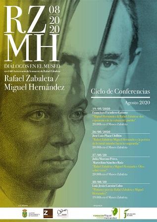 Cuatro conferencias ahondarán en los vínculos entre Rafael Zabaleta y Miguel Hernández.