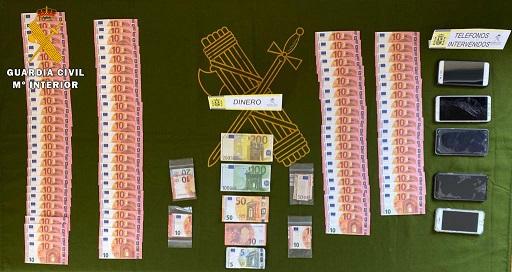 Dos investigados en Martos por la distribución de billetes falsos.