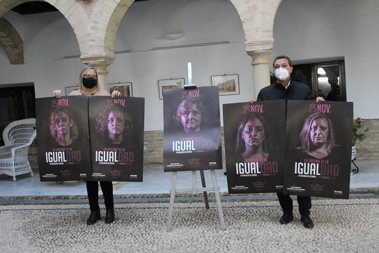 """El Ayuntamiento de Andújar conmemora el 25 de Noviembre con una campaña """"innovadora"""" que refleja la verdadera situación de las víctimas de violencia de género."""