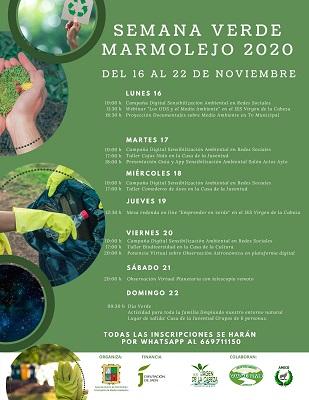 El Ayuntamiento de Marmolejo inaugura la Semana Verde llena de actividades para seguir desde casa.