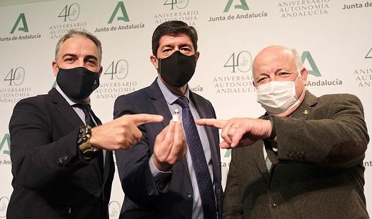 Andalucía continúa con la campaña de vacunación Covid-19 tras recibir 69.000 dosis nuevas.