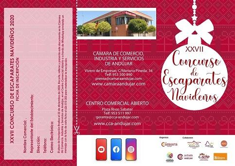 20 comercios optan a los premios del XXVII Concurso de Escaparates Navideños promovido por la Cámara de Comercio de Andújar.