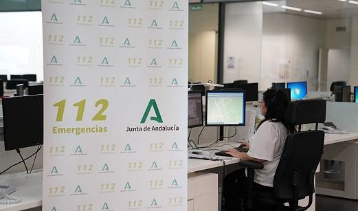 Emergencias 112 Andalucía gestiona 1.807 incidencias entre el mediodía de ayer y las primeras horas de Año Nuevo.