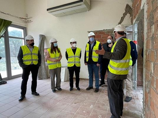 La Diputación destaca el avance de las obras del Centro de Interpretación del Lince Ibérico en Andújar.
