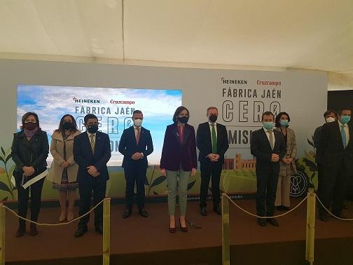 """Francisco Reyes participa en la inauguración de la fábrica """"Jaén Cero Emisiones"""" de Heineken España."""