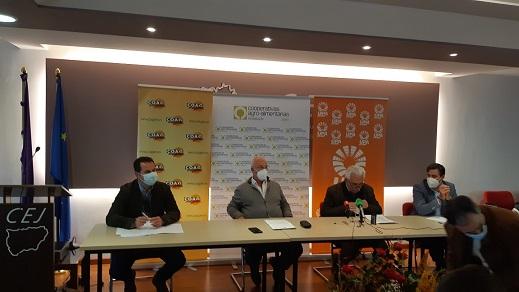 Las organizaciones agrarias Asaja, Coag y UPA y Cooperativas Agro-alimentarias, retoman las movilizaciones en Jaén pidiendo la retirada del decreto de convergencia de la PAC.