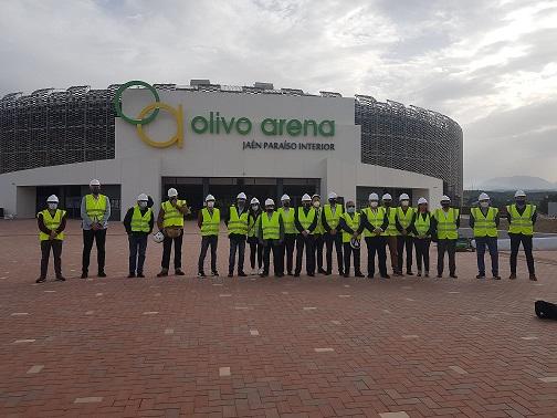 Francisco Reyes muestra su satisfacción por la elección del Olivo Arena como sede del Europeo sub-19 de fútbol sala.