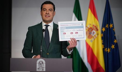 Moreno anuncia una transición a la normalidad en tres fases tras el fin del estado de alarma.