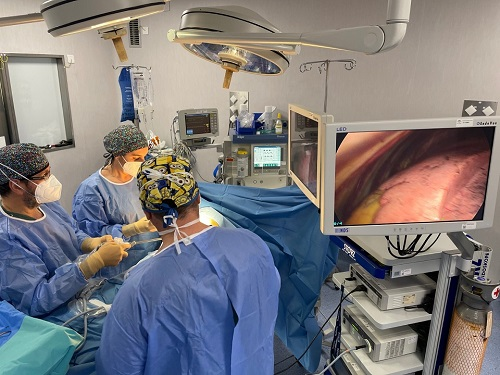 El Hospital de Jaén alcanza el 70% en técnicas mínimamente invasivas en cirugía torácica.