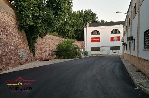 El Ayuntamiento de Andújar acomete un nuevo plan de asfaltado en la zona de Puerta de Córdoba y las Vistillas.