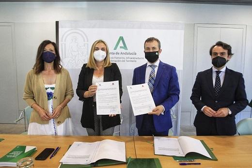 La Junta y el Ayuntamiento de Jaén firman la extinción del antiguo convenio del tranvía.