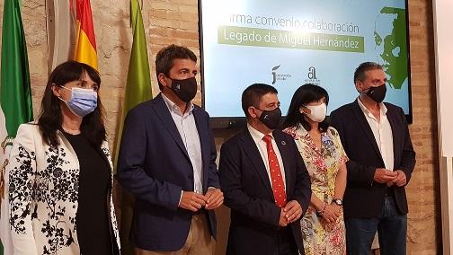 Las diputaciones de Jaén y Alicante sellan una alianza para divulgar la vida y la obra de Miguel Hernández.