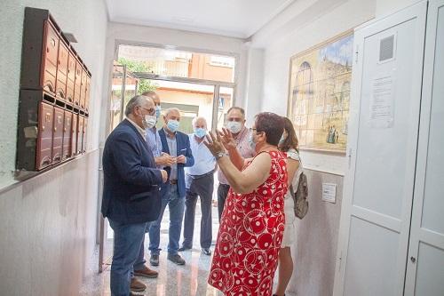 Las ayudas a la rehabilitación de Fomento mejoran cuatro edificios en Andújar.