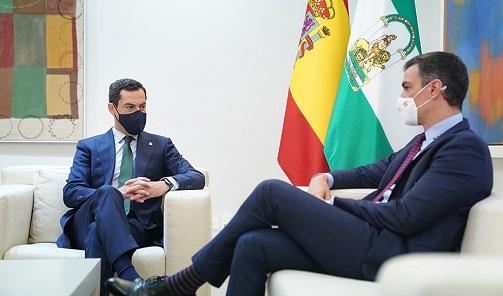 Moreno solicita por carta a Sánchez la constitución de una Comisión Bilateral de diálogo con Andalucía.