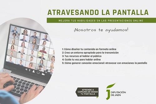 La Diputación ayudará a empresas jiennenses a mejorar sus habilidades comunicativas on line.