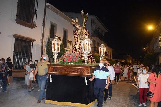 La imagen de Nuestro Padre Jesús Nazareno procesionó por las calles de Lopera.
