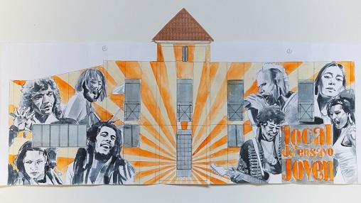 El edificio de las nuevas Salas de Ensayo de Andújar lucirá un mural dedicado a grandes figuras de la música.
