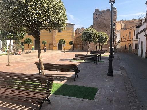 El Ayuntamiento de Andújar sigue mejorando espacios del casco histórico con una actuación en el Altozano de La Marquesa.