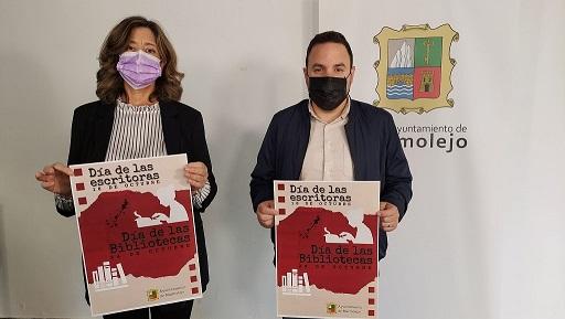 Marmolejo celebra el Día de las Escritoras y el Día de las Bibliotecas con una actividad participativa en el centro de la localidad.