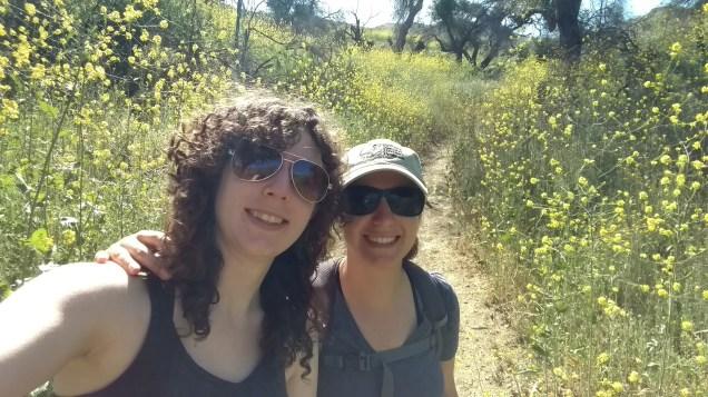 Aliso Canyon Loop hike. We walked through flowers taller than us!
