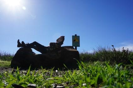 Nap along my hike