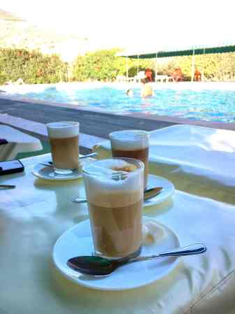 Coffee Nous Nous, typical Moroccan (Photographed 2017).