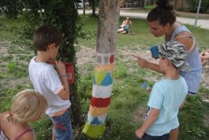 Peinture des arbres du Camping l'art de vivre
