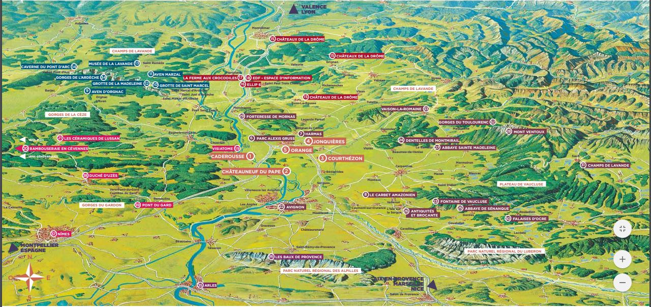 Chateauneuf du pape au coeur de multiples destinations de Provence