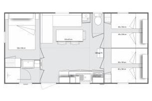 Mobilhome 3 chambres Clairette - plan