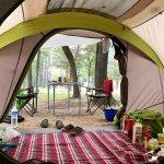 camping art de vivre, sous la tente