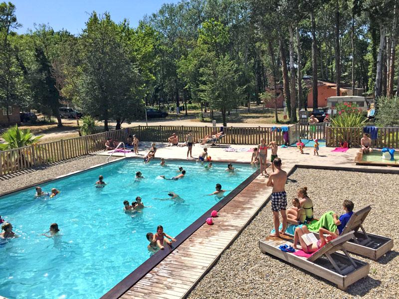 piscine, camping, art de vivre, chateauneuf du pape, provence, vaucluse