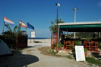 Einfahrt zu Camping Kranea
