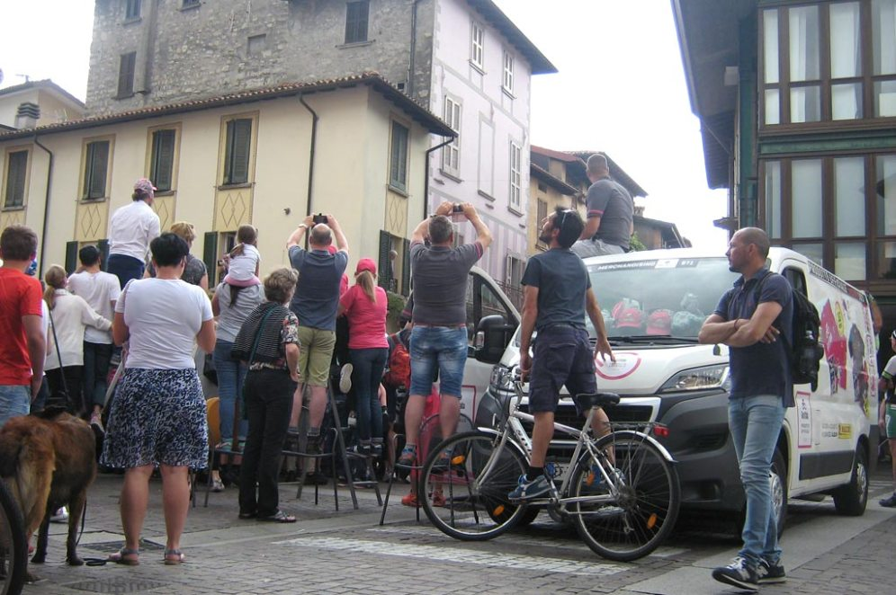 Giro d'Italia Iseo in Iseo am 23.Mai.18