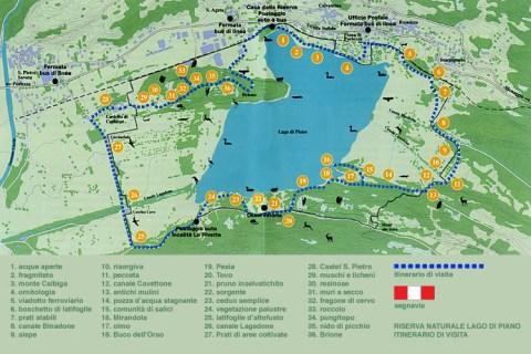 Karte vom Naturreservat Piano See