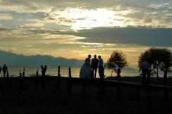 Fotoshooting bei Sonnenuntergang
