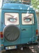 Unser Bus auf der Fahrt nach Theth