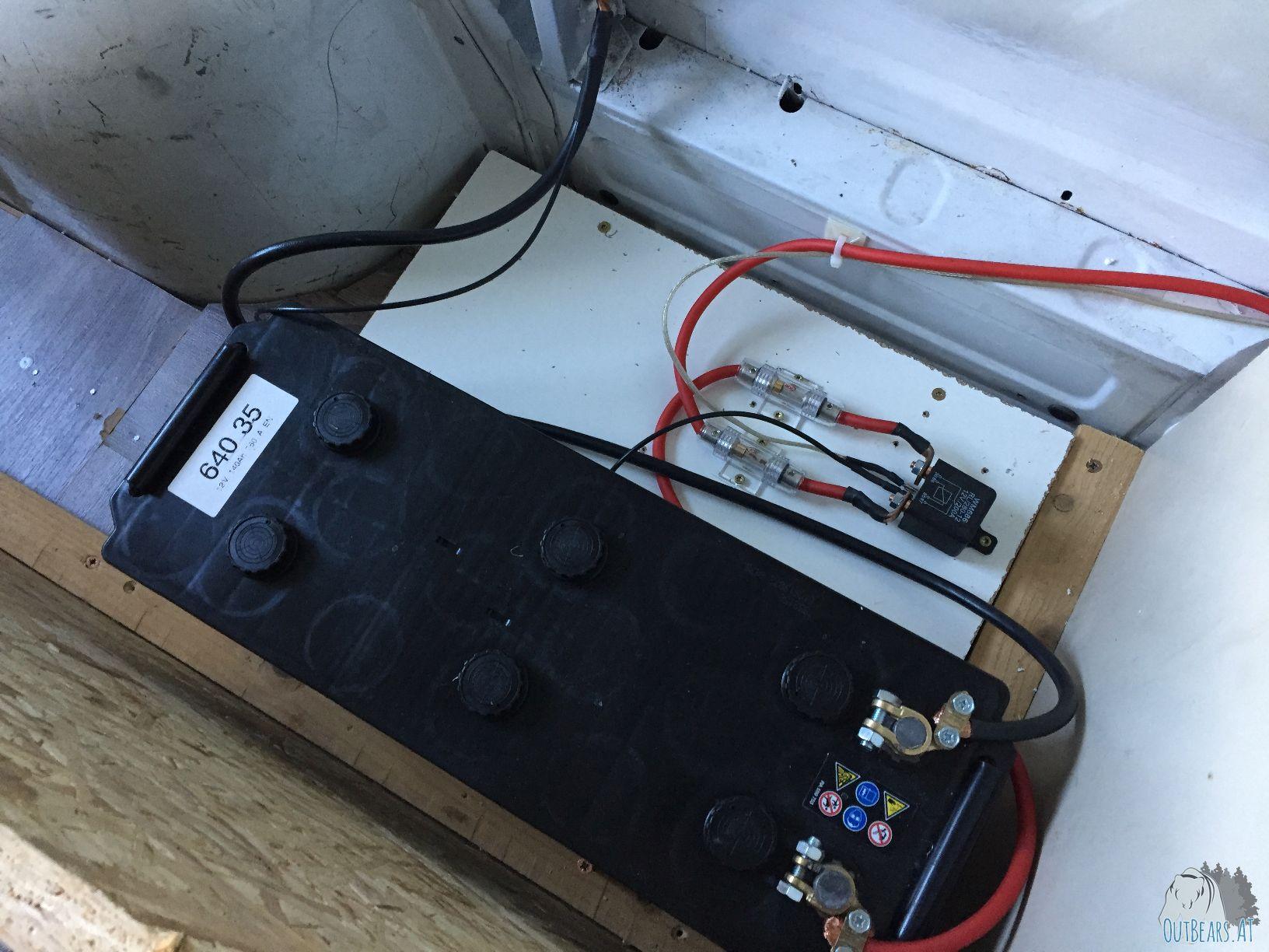 Einbau einer zweiten Batterie in den Camper