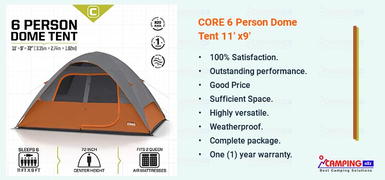 CORE Dome Tent 6 Person