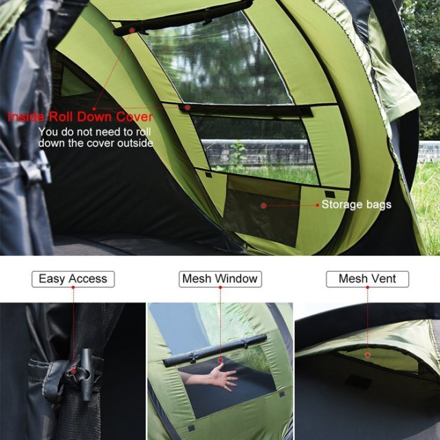 3-4 person tent features