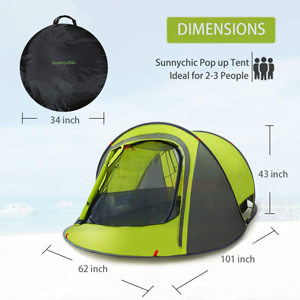 Sunnychic pop up tent