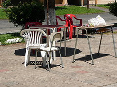 Plastic Chairs in Curacautin, Chile