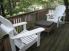 Chairs on Deck are typical outdoor furniture