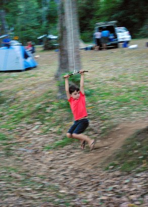 the ever popular rope swing — simple pleasure