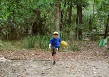 playing bush footy