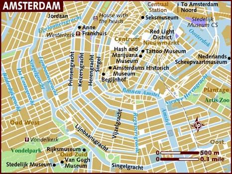 Kart Over Amsterdam Campingbil Net